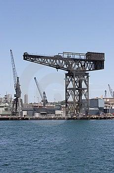 Dockyard Crane Free Stock Image