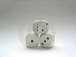 Used Up Dices Free Stock Photos