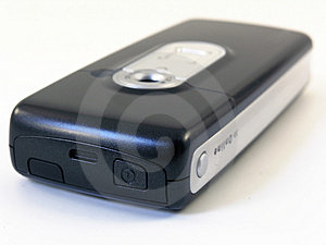High tech mobile phone with digital camera Stock Photography