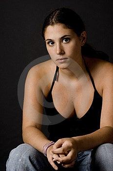 Girl In Black 4 Stock Photo