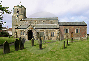 Bempton Church Stock Photo