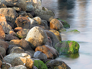 Rocks and water (color) Stock Photos