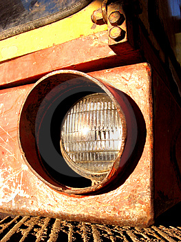 Excavator Headlight Stock Image