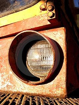 Excavator Headlight Stock Image