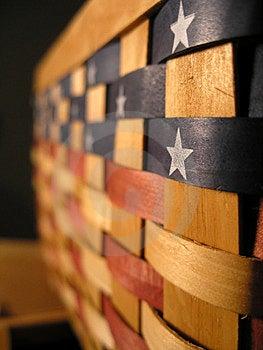 Patriotischer Korb Stockfoto