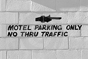 Motel Parking Only Free Stock Image