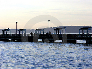Public Fishing Pier Free Stock Image