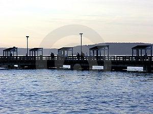 公共捕鱼码头 免版税库存图片