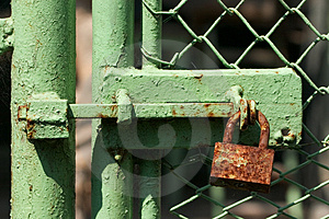 Rusty Lock Free Stock Image