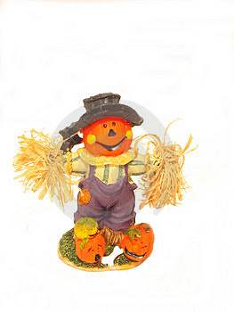 Pumpkin Scarecrow Free Stock Photography