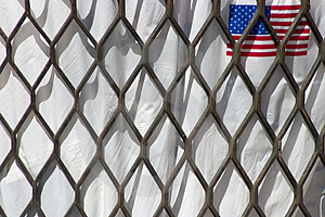 Trash Bag Flag Stock Photos