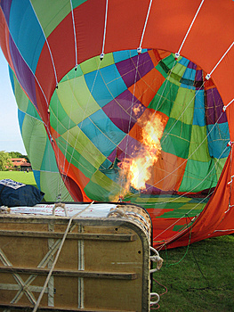 Inflating The Canopy Stock Photography