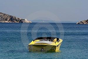 Ταχεία βάρκα εν πλω Στοκ εικόνες με δικαίωμα ελεύθερης χρήσης