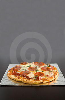 Pepperoni Pizza Royalty Free Stock Photo
