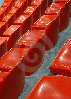 Indoor Athletic Center Seats Royalty Free Stock Images - Image: 2004719