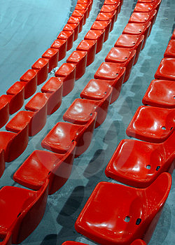 Indoor Athletic Center Seats Stock Images - Image: 2004724