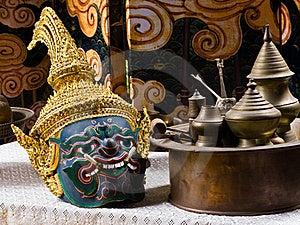Thai Drama Mask Stock Image - Image: 20000241