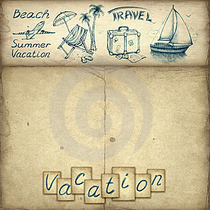 Vacation Text And Illustrations Stock Images - Image: 20000724