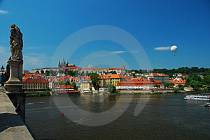 Prague Castle, View Across The Vtlava River Stock Photos - Image: 20002473