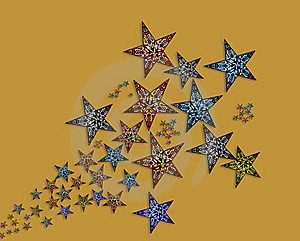 Handmade  Stars  Illustration Stock Photos - Image: 20004123