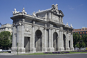 Puerta Alcalá1 Stock Photo - Image: 20004690