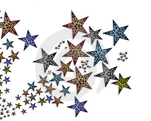 Handmade  Stars  Illustration #2 Royalty Free Stock Image - Image: 20008146