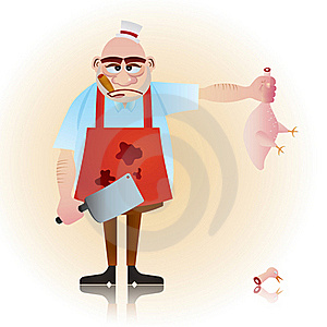 Butcher Guy Royalty Free Stock Photo - Image: 20011215