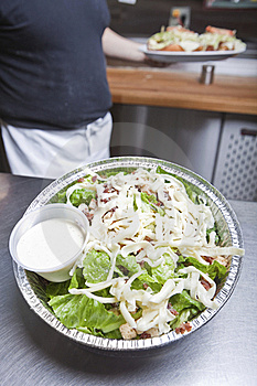 Take Out Caesar Salad Royalty Free Stock Images - Image: 20011739