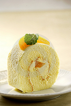 Cheesy Peach Roll Royalty Free Stock Images - Image: 20013889