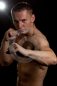 Sexy Male Boxer Ready To Fight Royalty Free Stock Photo - Image: 20017975