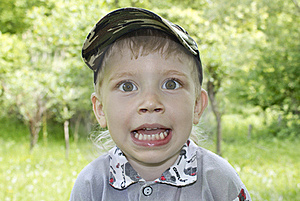 Cute Excited Little  Boy Stock Image - Image: 20022171