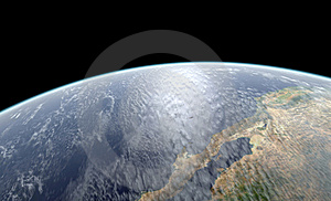 Earth Close-up Rendering Stock Images - Image: 20022404