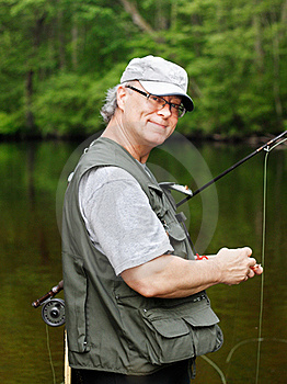 Fly Fisherman Royalty Free Stock Photography - Image: 20022777