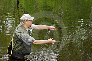 Fly Fishing Royalty Free Stock Images - Image: 20022909