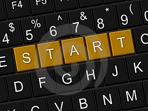 Start Button Royalty Free Stock Images - Image: 20025009