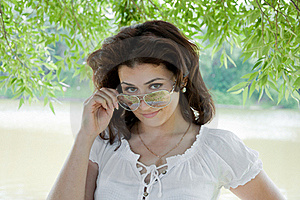 L Girl In The Park In Summer Stock Photography - Image: 20025762