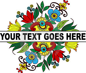 Fancy Doodle Graphic With Place For Yopur Text Stock Images - Image: 20028084