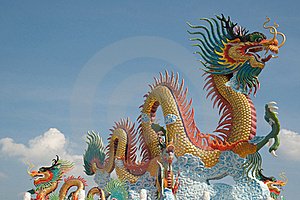 Chinese Dragon Statue Royalty Free Stock Photography - Image: 20029147
