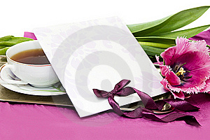 Violet Greeting Card Royalty Free Stock Photo - Image: 20029525