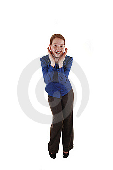 Girl Has Fun. Stock Photography - Image: 20029832