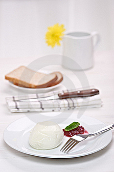 Mozzarella With Cranberry Sauce Stock Photo - Image: 20030930