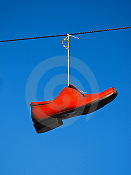 Red Shoe Stock Image - Image: 20031911