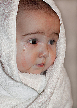 Baby In Towel Stock Photos - Image: 20034023