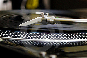 Turntable Playing Vinyl Record Stock Images - Image: 20038944