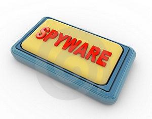 Push Button 'spyware' Royalty Free Stock Photos - Image: 20041418