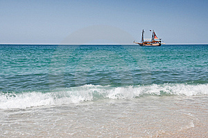 Ship On The Sea Stock Images - Image: 20043654