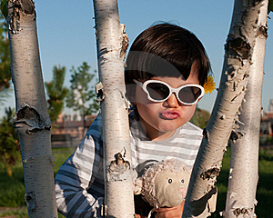 Young Girl Playing Peek A Boo Royalty Free Stock Photos - Image: 20044638
