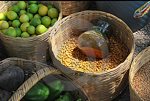 Local Market Baskets Royalty Free Stock Photo - Image: 20044925