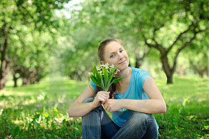 Young Woman Outdoors Stock Photography - Image: 20044982