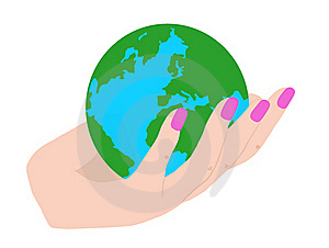Hand Holding The Earth Royalty Free Stock Photo - Image: 20045455